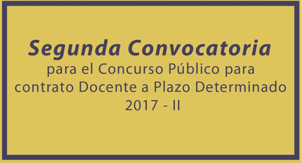 Segunda convocatoria para el concurso p blico para for Convocatoria de docentes 2017