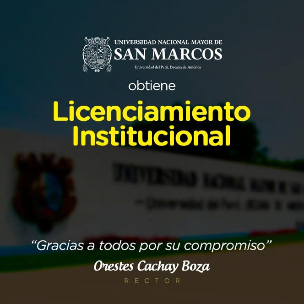 Sunedu otorga el licenciamiento institucional a San Marcos por un ...
